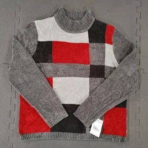 NWT Alfred Dunner Mock Neck Chenille Sweater